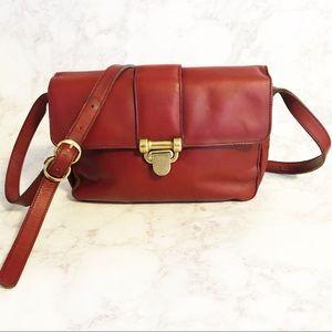 Vintage Hand Made Etienne Aigner Burgundy Bag